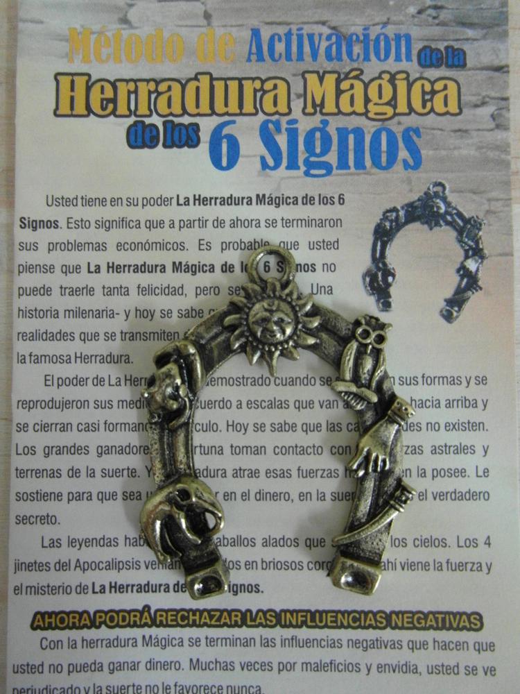 Amulet Magic Horse-shoe 6 Signs
