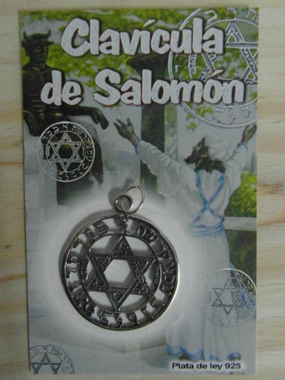 Amuleto clav cula de salom n 4 cm tienda esot rica el for Conjuros de salomon